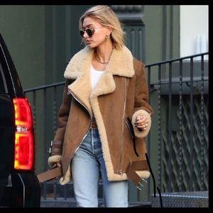 Jones New York Jackets & Coats - Jones New York Leather Jacket coat Shearling